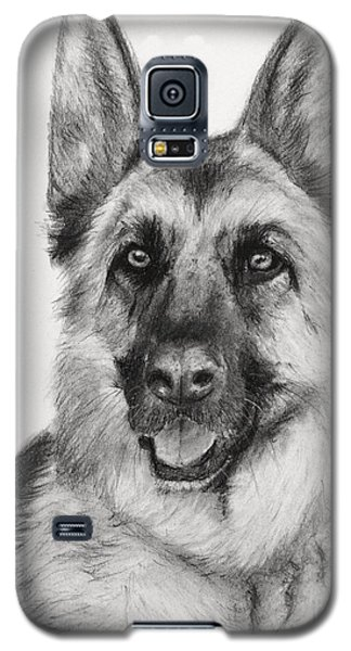 German Shepherd Drawn In Charcoal Galaxy S5 Case