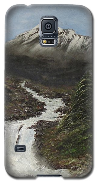 Galaxy S5 Case featuring the painting Gerri's Mountain by J L Zarek