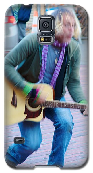 Galaxy S5 Case featuring the photograph Gettin Down - Street Musician In Seattle by Jane Eleanor Nicholas