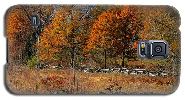 Galaxy S5 Case featuring the photograph Gettysburg At Rest - Autumn Looking Towards The J. Weikert Farm by Michael Mazaika