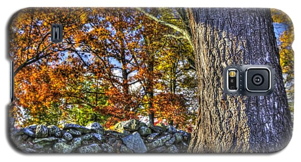 Galaxy S5 Case featuring the photograph Gettysburg At Rest - Stone Fence Near Old Cyclorama Visitors Center by Michael Mazaika