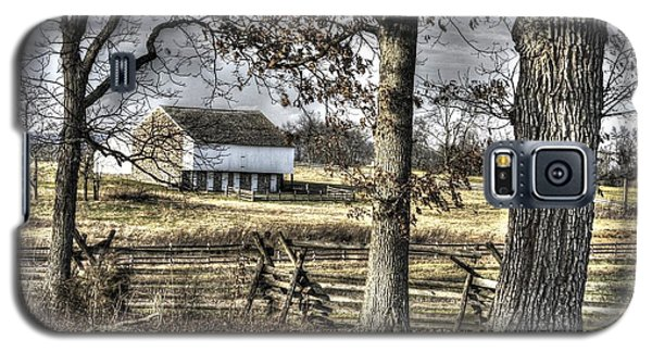Galaxy S5 Case featuring the photograph Gettysburg At Rest - Winter Muted Edward Mc Pherson Farm by Michael Mazaika