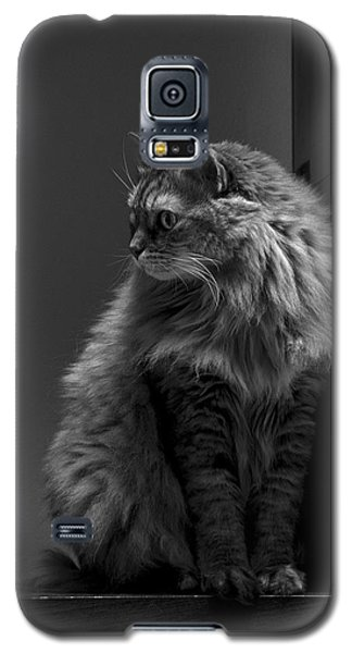 Ghiga Posing In Black And White Galaxy S5 Case