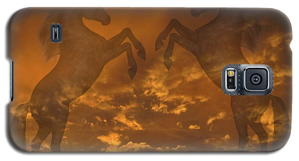 Ghost Horses At Sunset Galaxy S5 Case