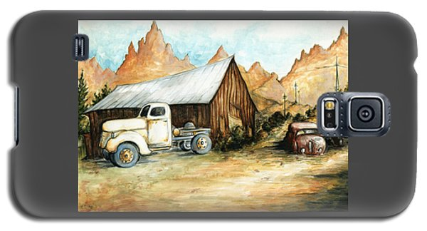 Ghost Town Nevada - Watercolor Art Galaxy S5 Case