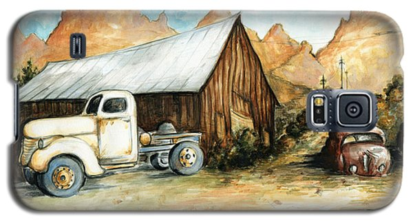 Ghost Town Nevada - Western Art Painting Galaxy S5 Case