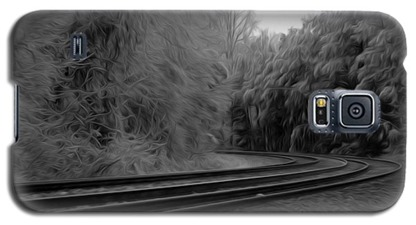 Galaxy S5 Case featuring the digital art Ghostly Curves by Kelvin Booker