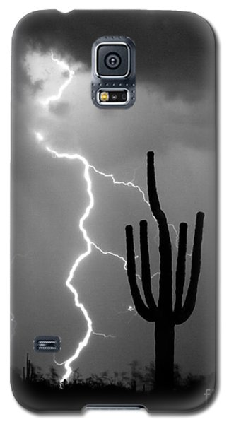 Giant Saguaro Cactus Lightning Strike Bw Galaxy S5 Case by James BO  Insogna