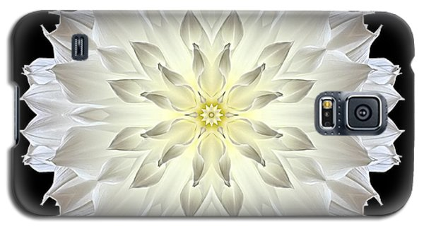 Giant White Dahlia Flower Mandala Galaxy S5 Case