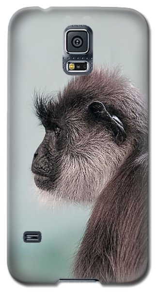 Galaxy S5 Case featuring the photograph Gibbon Monkey Profile Portrait by Tracie Kaska