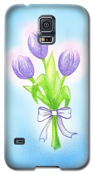 Galaxy S5 Case featuring the drawing Gift by Keiko Katsuta