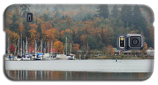 Galaxy S5 Case featuring the photograph Gig Harbor In The Fog by E Faithe Lester