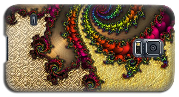 Gilded Fractal 10  Galaxy S5 Case