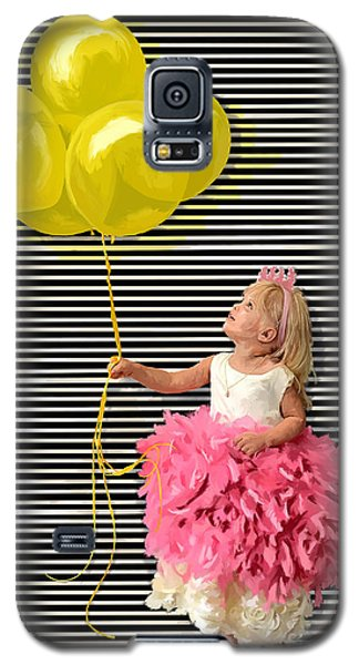 Gillian With Yellow Balloons Galaxy S5 Case by Tim Gilliland
