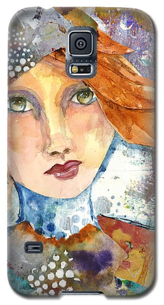 Galaxy S5 Case featuring the mixed media Ginger Girl by P Maure Bausch