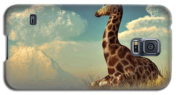 Giraffe And Distant Mountain Galaxy S5 Case