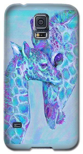Giraffe Shades  Purple And Aqua Galaxy S5 Case