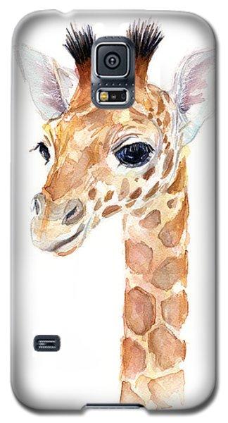 Giraffe Watercolor Galaxy S5 Case by Olga Shvartsur