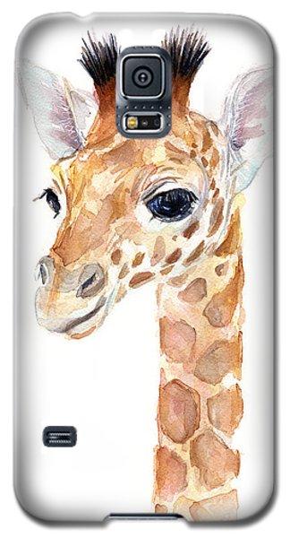 Giraffe Watercolor Galaxy S5 Case