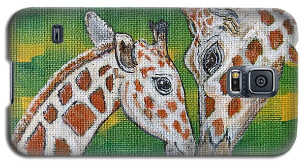 Giraffes Artwork - Learning And Loving Galaxy S5 Case
