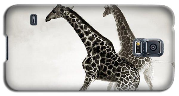 Giraffes Fleeing Galaxy S5 Case by Johan Swanepoel
