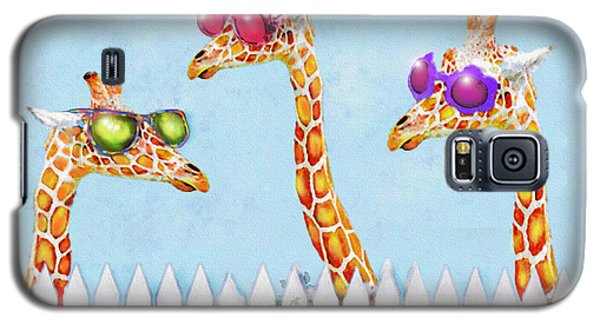 Giraffes In Sunglasses Galaxy S5 Case by Jane Schnetlage