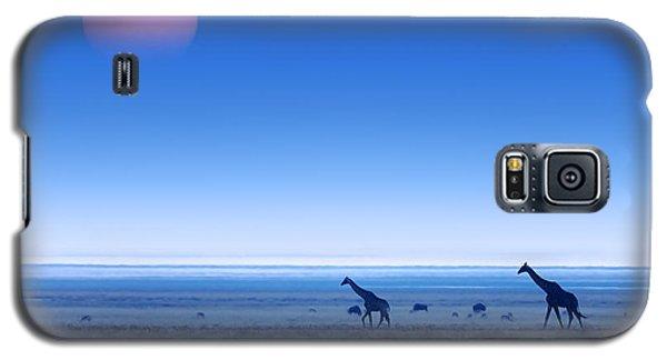 Giraffes On Salt Pans Of Etosha Galaxy S5 Case by Johan Swanepoel