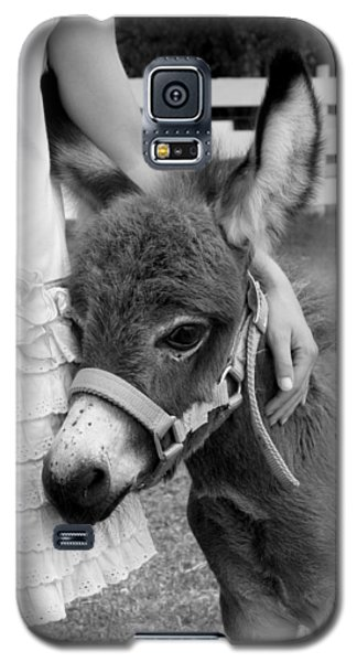 Girl And Baby Donkey Galaxy S5 Case by Brooke T Ryan