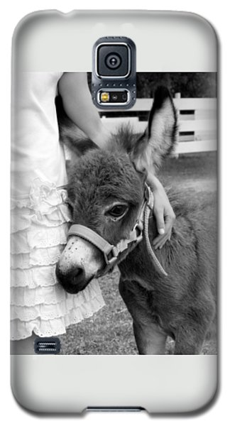 Galaxy S5 Case featuring the photograph Girl And Baby Donkey by Brooke T Ryan