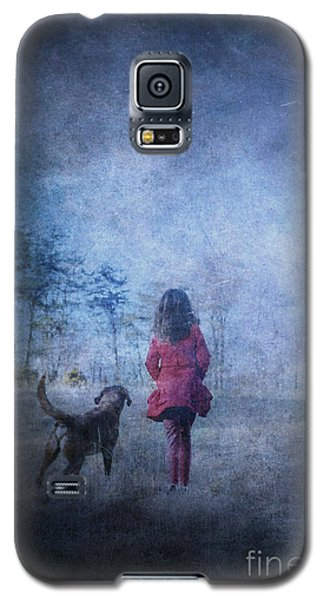 Girl And Her Dog Galaxy S5 Case