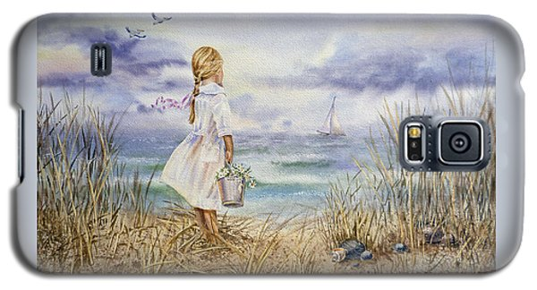 Girl At The Ocean Galaxy S5 Case