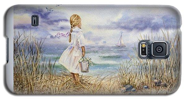 Girl At The Ocean Galaxy S5 Case
