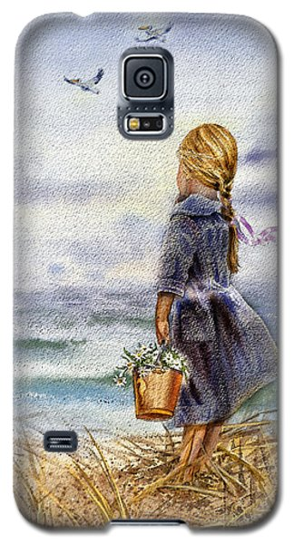Girl And The Ocean Galaxy S5 Case