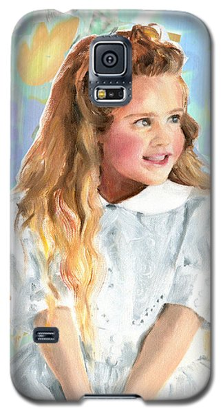Girl In A White Lace Dress  Galaxy S5 Case