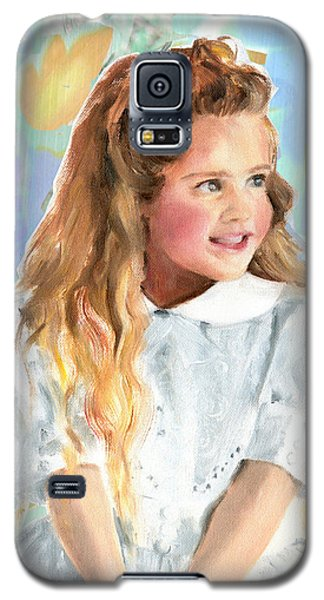Girl In A White Lace Dress  Galaxy S5 Case by Greta Corens