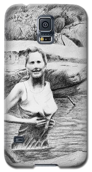 Girl In Savage Creek Galaxy S5 Case