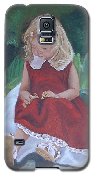 Girl In The Garden Galaxy S5 Case by Sharon Schultz