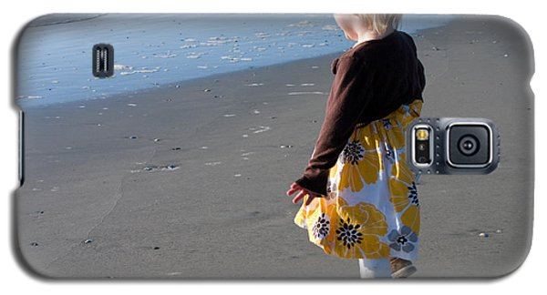 Galaxy S5 Case featuring the photograph Girl On Beach by Greg Graham