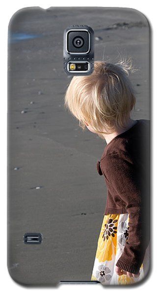 Galaxy S5 Case featuring the photograph Girl On Beach II by Greg Graham