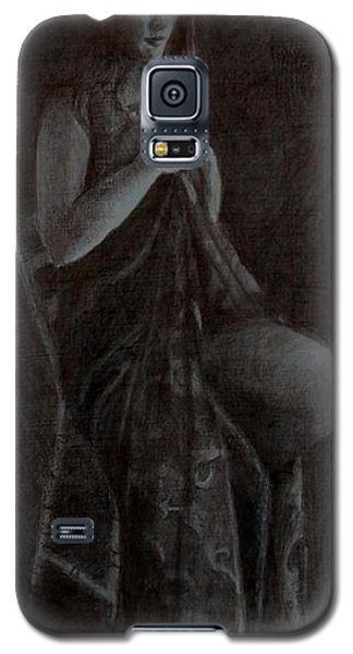 Girl On Chair Galaxy S5 Case