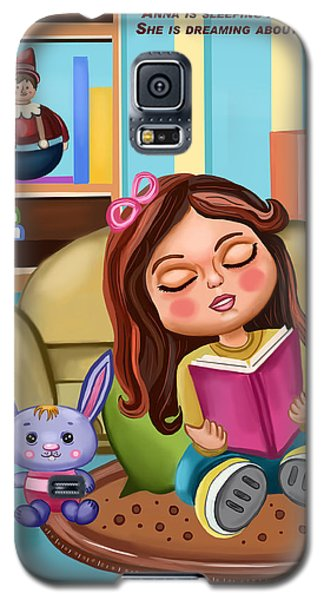 Girl Reading Galaxy S5 Case