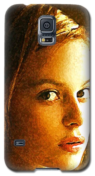 Galaxy S5 Case featuring the painting Girl Sans by Richard Thomas
