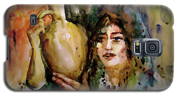 Galaxy S5 Case featuring the painting Girl With A Jug. by Faruk Koksal