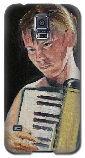 Girl With Accordion Galaxy S5 Case