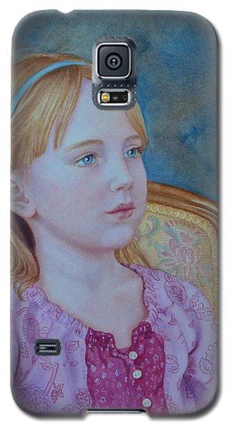 Girl With Blue Headband Galaxy S5 Case
