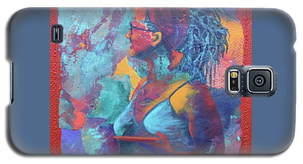 Galaxy S5 Case featuring the painting Girl With Dreads by Nancy Jolley
