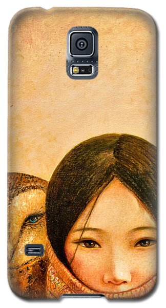 Owl Galaxy S5 Case - Girl With Owl by Shijun Munns