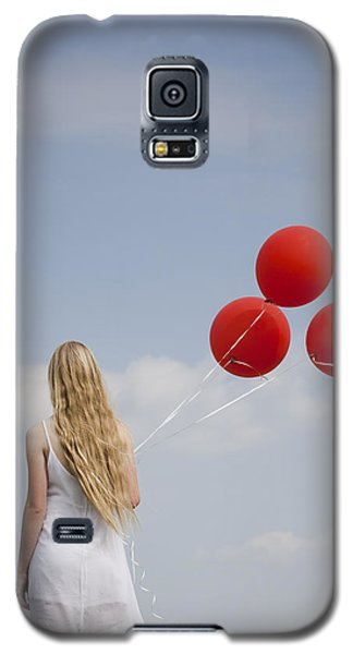 Girl With Red Balloons Galaxy S5 Case