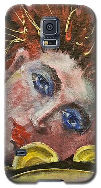 Girl With Tamburin-detail From Three Red Musicians Galaxy S5 Case
