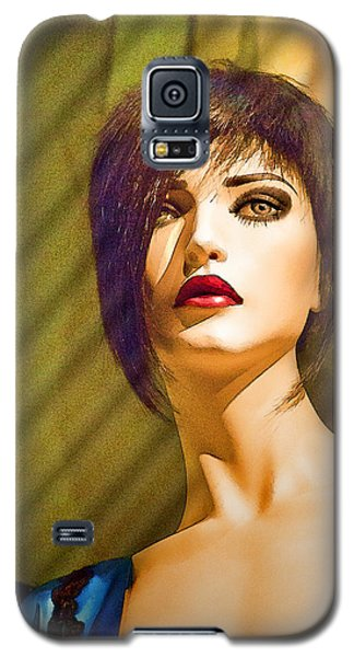 Girl With The Blue Dress On Galaxy S5 Case